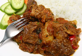 Agneau au curry fort
